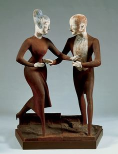 Elie Nadelman, Tango, 1920–24. Painted cherry wood and gesso. Whitney Museum of American Art, New York.