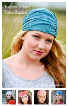 "Specifically Random's extra wide headbands measure 15"" wide and fully extended will cover the entire head. A great option for partial hair loss."