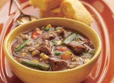 Slow Cooker Beefy Vegetable-Barley Soup Recipe--will replace store bought icky broth with my own home made broth as well as my veggies instead of store bought pesticide laden ones.  lol  That comment was added for dad!  lol