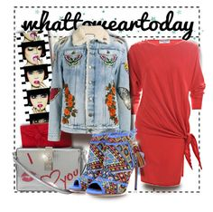 Sassy fun #ladyinred #whattoweartoday by thesouthernsnowflake on Polyvore featuring polyvore, fashion, style, Pierre Cardin, Gucci, Aquazzura, Dolce&Gabbana, L.K.Bennett, FOSSIL, Anja and clothing