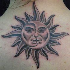 Sun  Moon Tattoo Design ink