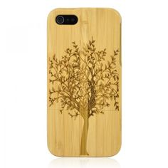 Hand Carved Bamboo iPhone 5 Case - Tree for a big sale in bygoods.com
