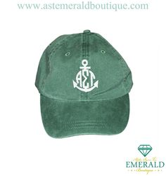 Alpha Sigma Tau Anchor Green Hat