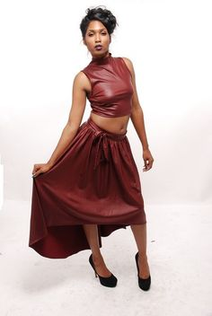 High Low, Leather Skirt, Ballet Skirt, Collections, Bows, Tie, Crop Tops, Skirts, Products
