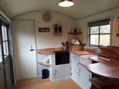 Airstream Interior- not an Airstream, it is a shephard hut!