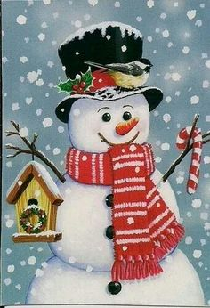 Snowman Birdhouse Christmas Garden Flag Primitive Chickadee X Christmas Scenes, Christmas Balls, Christmas Snowman, Winter Christmas, Vintage Christmas, Christmas Wreaths, Christmas Crafts, Christmas Decorations, Christmas Ornaments