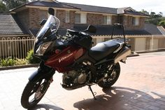 My 2006 V-Strom the day I picked it up. Motorcycles, Vehicles, Car, Motorbikes, Motorcycle, Choppers, Vehicle, Crotch Rockets, Tools