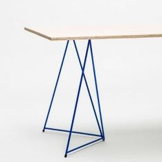 Stackable trestle tables from Master & Master.