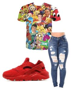 """""""~graphic tee~"""" by qveenmm on Polyvore featuring NIKE"""