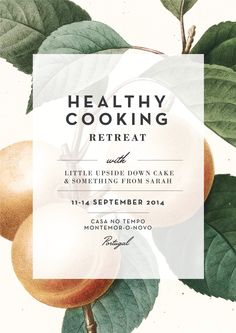 Barn Studio | Healthy Cooking Retreat poster design