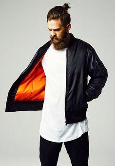 Basic Bomber Leather Imitation Sleeve Jacket - Portofrei #fashion #jacket #bomberjacke #urban #jacken #black #style http://www.rudestylz.de/basic-bomber-leather-jacket.htm