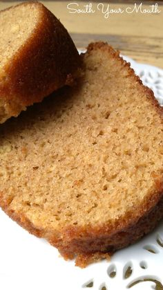 White Wine Cake! A moist, rich bundt cake made with white wine.