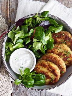 Potetkaker Recipe Boards, Vegan Recipes, Vegan Food, Gnocchi, Salmon Burgers, Tapas, Gluten Free, Snacks, Meat