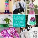 Fun DIY Kids Clothing to Make For Fall