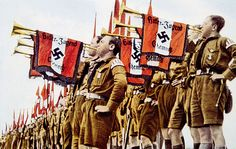 W.W. II, c.1933, Nazi Germany, Fanfare of Hitler Youth.
