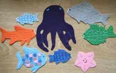 Rainbow Fish Preschool Theme: ideas and template on website