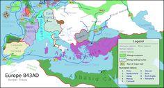 Viking raids and incursions map