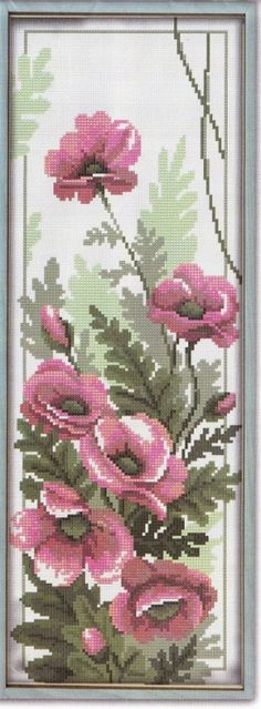 Cross stitch - flowers: Poppies (free pattern)