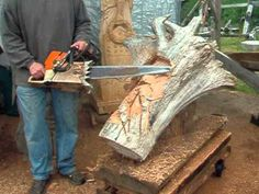 Chainsaw face carving tutorial