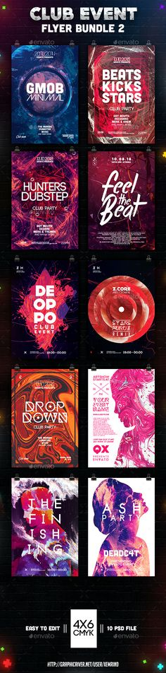 199 best club flyer templates images on pinterest in 2018 club