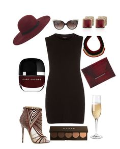 """""""The LBD"""" by queenbre91 ❤ liked on Polyvore featuring Monica Vinader, Jimmy Choo, River Island, Maison Scotch, Bulgari, ALDO, Becca, BCBGMAXAZRIA and Wine Enthusiast"""