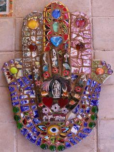 """Mosaic wall Art  """"HAMSA""""  Mosaic"""