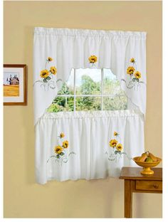 SunFlowers and Bees  Window Curtain Valance 42 x 13