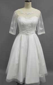 Wedding Frocks, Tulle Wedding, Wedding Party Dresses, Pleated Fabric, Tea Length, Autumn Summer, Sleeve Styles, Summer Wedding, Hemline