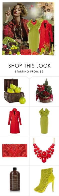 """Untitled #2044"" by tina-teena ❤ liked on Polyvore featuring Nearly Natural, Cushnie Et Ochs, Balmain, Ladurée, philosophy, Christian Lacroix and Glitter and Twisted"