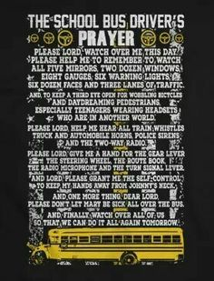 Nice prayer School Bus Safety, School Bus Driver, School Buses, Bus Humor, School Humor, School Days, Art School, School Stuff, School Bus Drawing