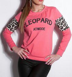 KouCla Leopard Pullover coral