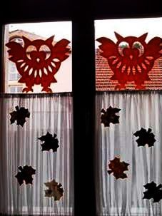 September, Flag, Paper Crafts, Autumn, Halloween, Decor, Papercutting, Animaux, Owls
