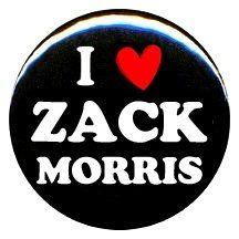 """$1 Amazon.com: 1"""" Saved By The Bell """"I Love Zack Morris"""" Button/Pin: Everything Else"""
