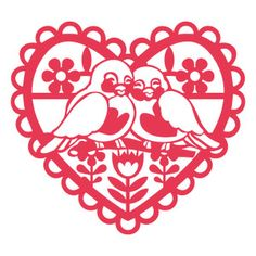 retro heart love birds by Jamie Koay Design ID #115593 Published: 1/19/2016 Regular cut