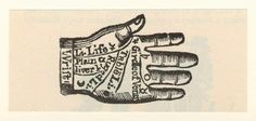 palm reading vintage - Google Search