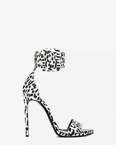 #saintlaurent #highheels #sandals #blackandwhite