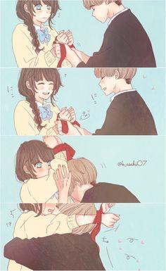 Anime Couple Kiss, Anime Kiss, Manga Couple, Anime Couples Drawings, Anime Couples Manga, Manga Anime, Kawaii Anime Girl, Anime Art Girl, Manga Girl