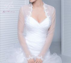 Bridal bolero with lace