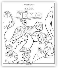 24 Free Disney Printables - Coupons and Deals - SavingsMania Finding Nemo Coloring Pages, Cartoon Coloring Pages, Disney Coloring Pages, Coloring Book Pages, Coloring Pages For Kids, Finding Nemo Movie, Disney Movie Rewards, Disney Printables, Kids Inspire