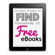 Once I finally relented and got an eReader, I was hooked!  There are tons of places to find eBooks for free--from classics to kids books to audiobooks.  Here are ten of the best places to find free eBooks!