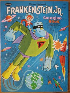 Todos os tamanhos | 1960's Frankenstein Jr. Coloring Book | Flickr