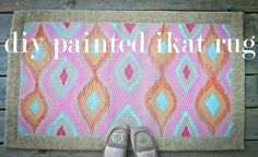 diy painted ikat rug