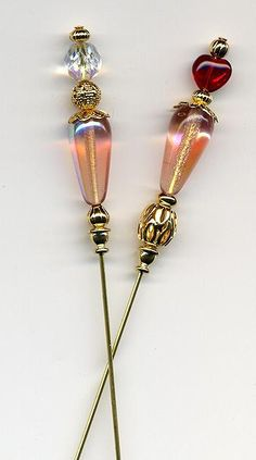 Our USA Handcrafted Hatpins and Stickpins are so lovely! Hatpins are 6 inches; Stickpins are 3 inches. You can request either length for any style. There will be slight variations in beading depending