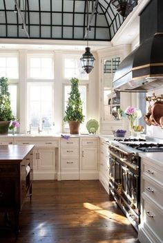 I am all about a kitchen that makes you feel like you are in an old London train station.