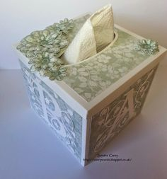 Paper tissue box for baby byCarey's Cards