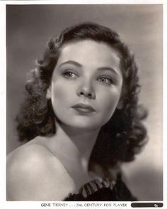 Gene Tierney - Page 54 - the Fashion Spot Hollywood Stars, Classic Hollywood, Old Hollywood, Classic Beauty, Timeless Beauty, Gene Tierney, Classic Movie Stars, Famous Stars, Photography Women