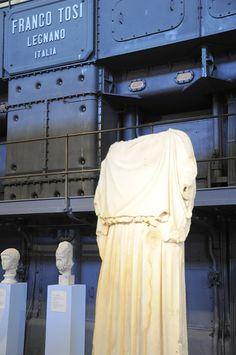 Oude beelden van marmer tussen elektriciteitsmachines - dit mooie museum is een van de redenen waarom wij zo veel van Rome houden!