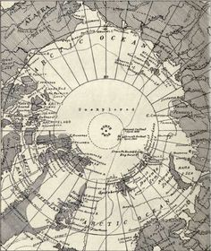 Map Of The Arctic Regions - Bartholomew's Atlas.