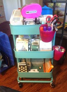 The Levan Family PL Organization IKEA Raskog Cart With Hanging - Craft organizer cart on wheels