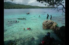 Swimming spot of the small island in the Solomon's